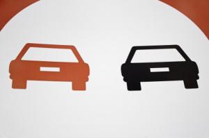 Verkehrszeichen für Überholverbot