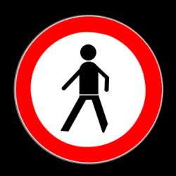 Das Zeichen 259 markiert ein Verbot für Fußgänger, einen bestimmten Bereich zu betreten.